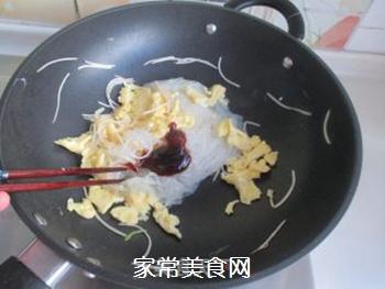 粉丝炒鸡蛋的做法步骤:8