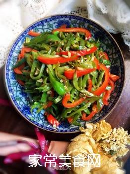 双椒扁豆的做法步骤:9