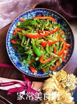 双椒扁豆的做法步骤:10