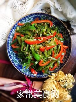 双椒扁豆的做法