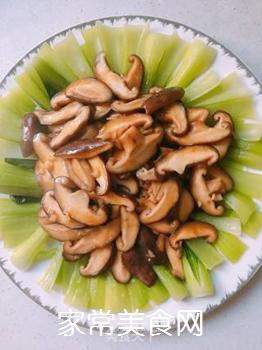 香菇油菜的做法步骤:11