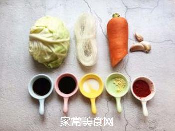 凉拌粉丝包菜的做法步骤:1