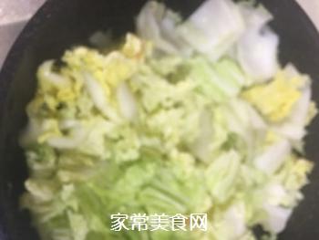 杭白菜炒油面筋的做法步骤:3