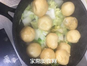 杭白菜炒油面筋的做法步骤:4