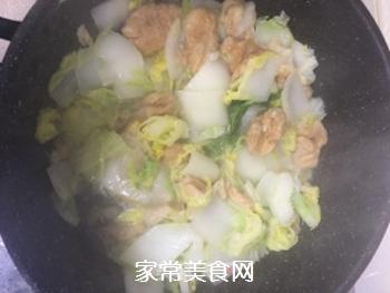 杭白菜炒油面筋的做法步骤:5