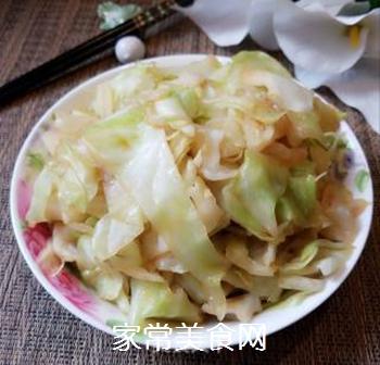 蚝油包心菜的做法步骤:7