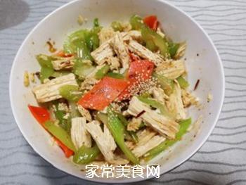 西芹拌腐竹的做法步骤:10