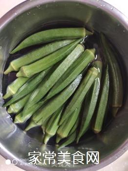 葱油秋葵的家常做法