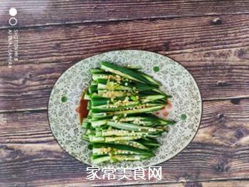 葱油秋葵的做法步骤:6