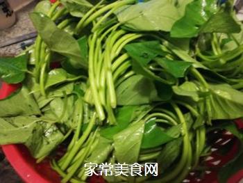 红椒腐乳番薯苗的家常做法