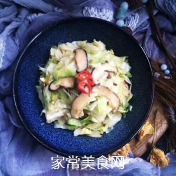 干香菇炒包菜的做法步骤:10
