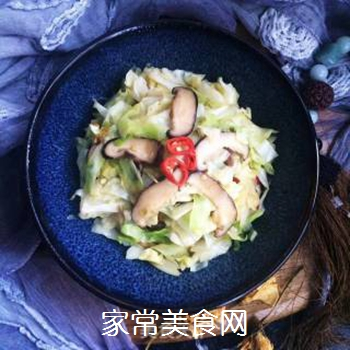 干香菇炒包菜的做法步骤:12