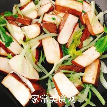 芹菜炒香干的做法步骤:4