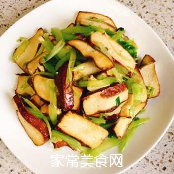 芹菜炒香干的做法步骤:5