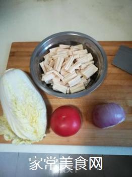 白菜烧腐竹的家常做法