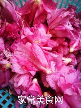 清炒木槿花的做法步骤:2