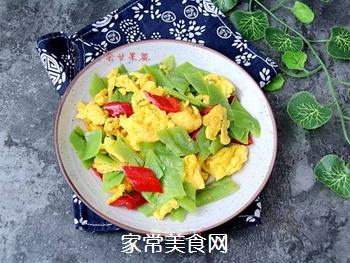 丝瓜皮炒鸡蛋的做法