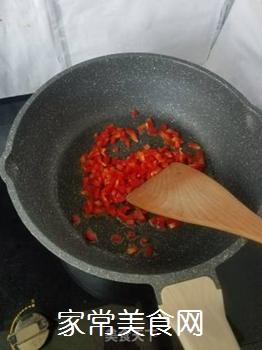 红椒煎蛋的做法步骤:3