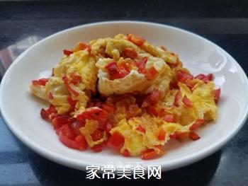 红椒煎蛋的做法