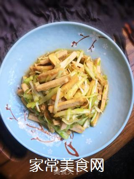 豆干炒韭黄的做法步骤:7