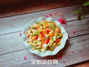 尖椒烧豆腐的做法步骤:11