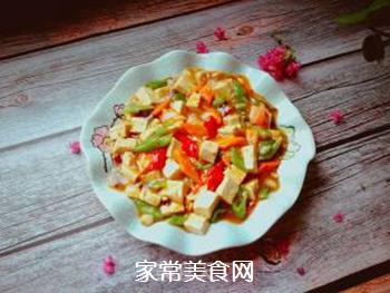 尖椒烧豆腐的做法步骤:12