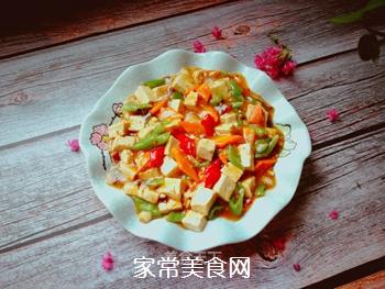 尖椒烧豆腐的做法