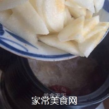 银耳红枣水果粥的做法步骤:6