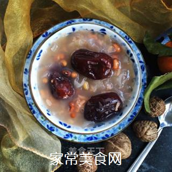 银耳红枣水果粥的做法步骤:8
