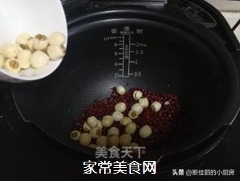 红薯莲子红豆汤的做法步骤:5