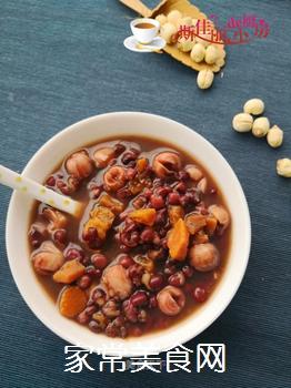 红薯莲子红豆汤的做法