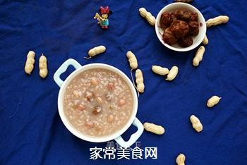 酸甜甘润的陈皮梅花生粥的做法