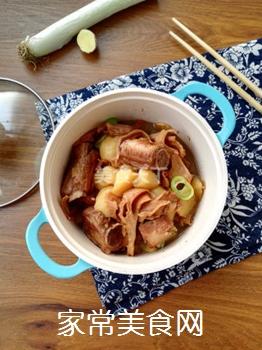 土豆蘑菇炖排骨#御寒美食#的做法步骤:12