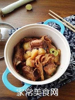 土豆蘑菇炖排骨#御寒美食#的做法步骤:13