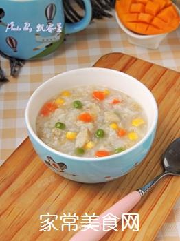 杂蔬藜麦鳕鱼粥的做法