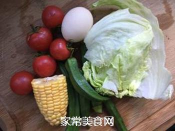 时蔬拼蛋的做法步骤:1