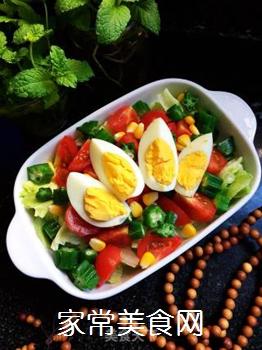 时蔬拼蛋的做法步骤:8