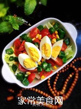时蔬拼蛋的做法步骤:10