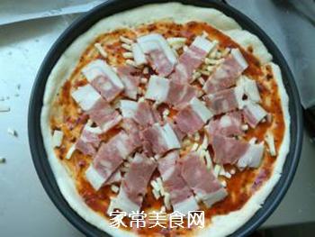 培根火腿蔬菜披萨的做法步骤:9