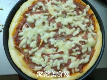 培根火腿蔬菜披萨的做法步骤:13