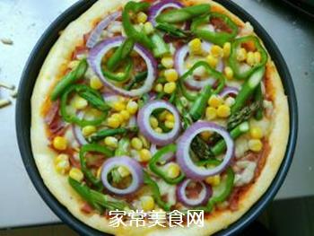 培根火腿蔬菜披萨的做法步骤:14