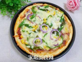 培根火腿蔬菜披萨的做法步骤:16