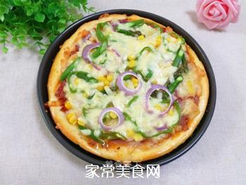 培根火腿蔬菜披萨的做法