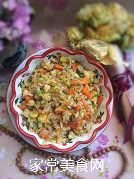 鸡肉什锦炒饭的做法步骤:10