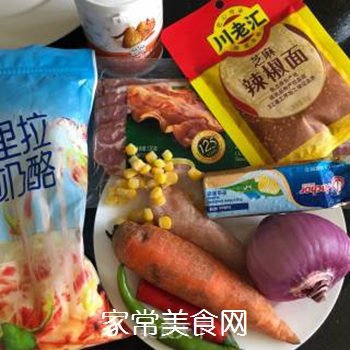 鸡肉芝士�h饭的做法步骤:1