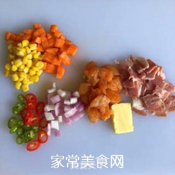 鸡肉芝士�h饭的做法步骤:5