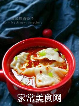 玉米鲜肉饺子的做法步骤:1