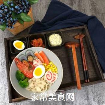 日式海鲜拉面的做法步骤:6