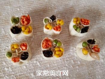 四宝蒸饺的做法步骤:13