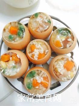 五彩糯米蛋的做法步骤:7